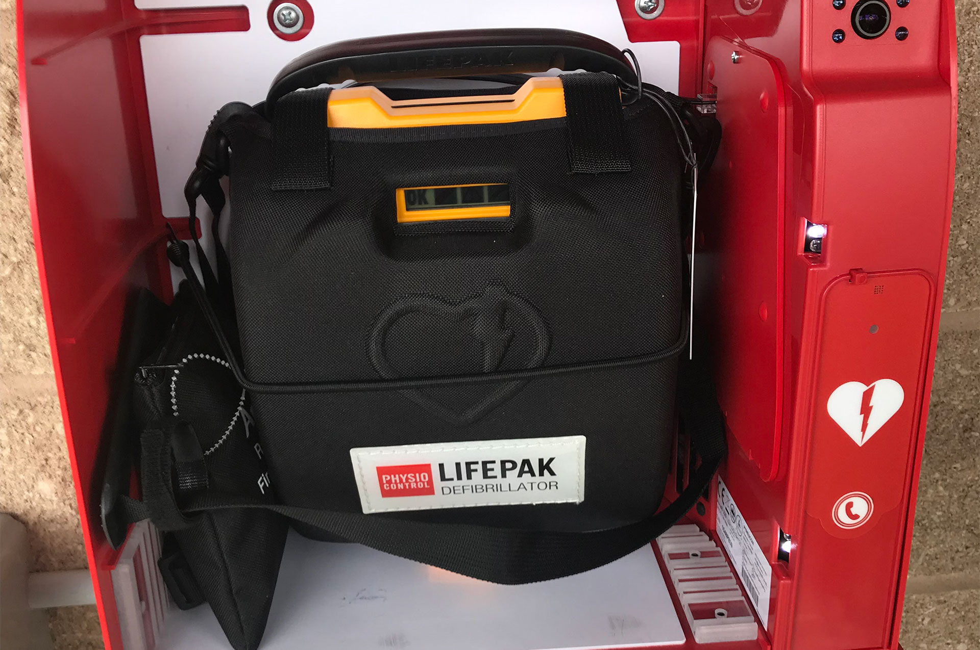 UA Installs First AED In Community Park