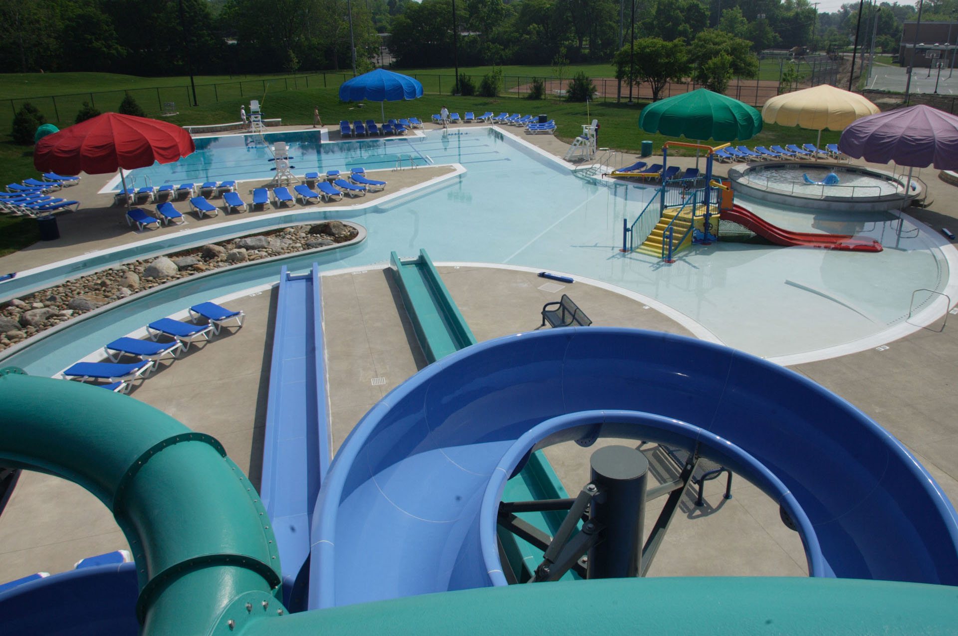 Reed Road Water Park From Top Of Slide