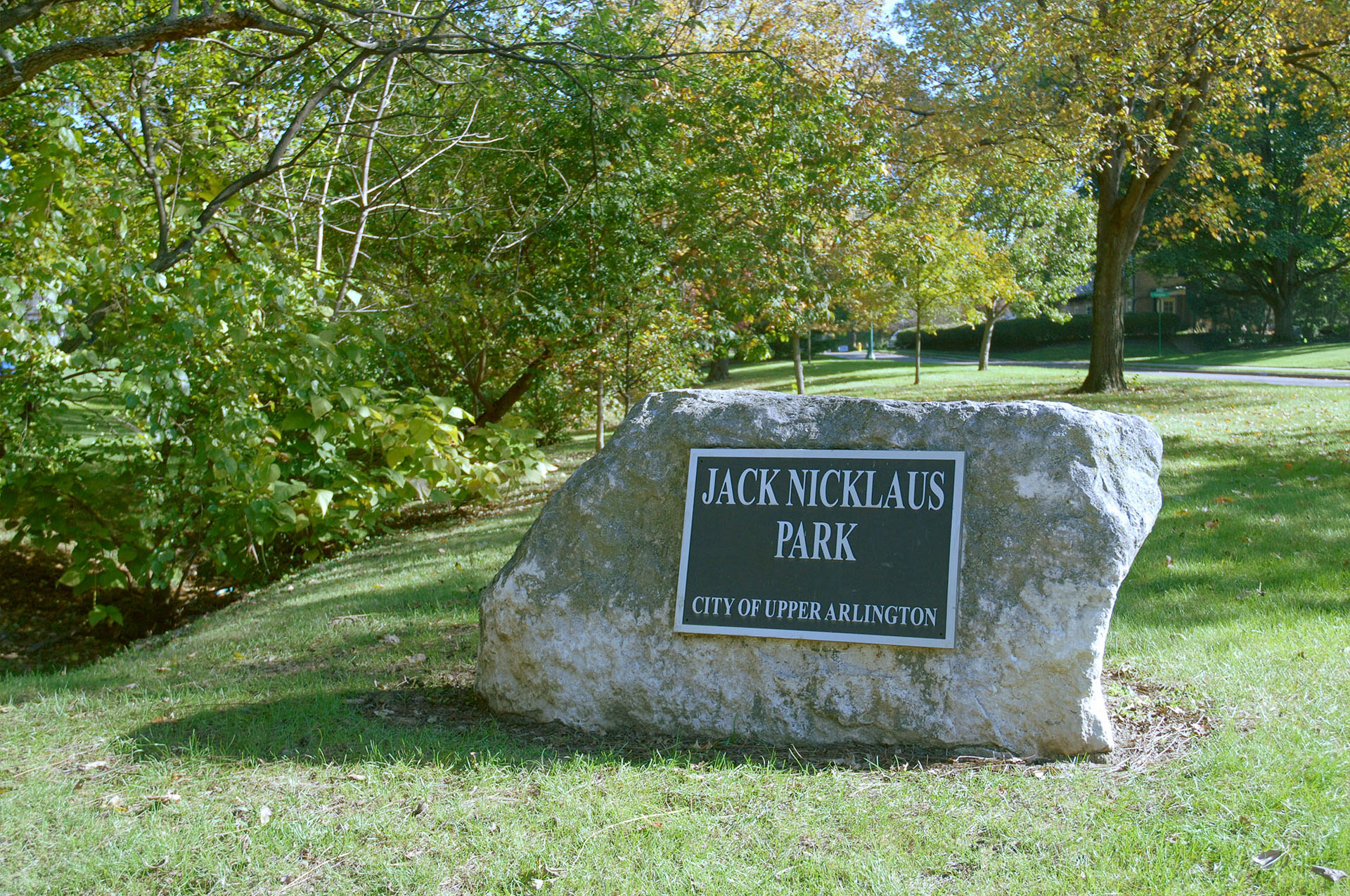 Jack Nicklaus Park Sign