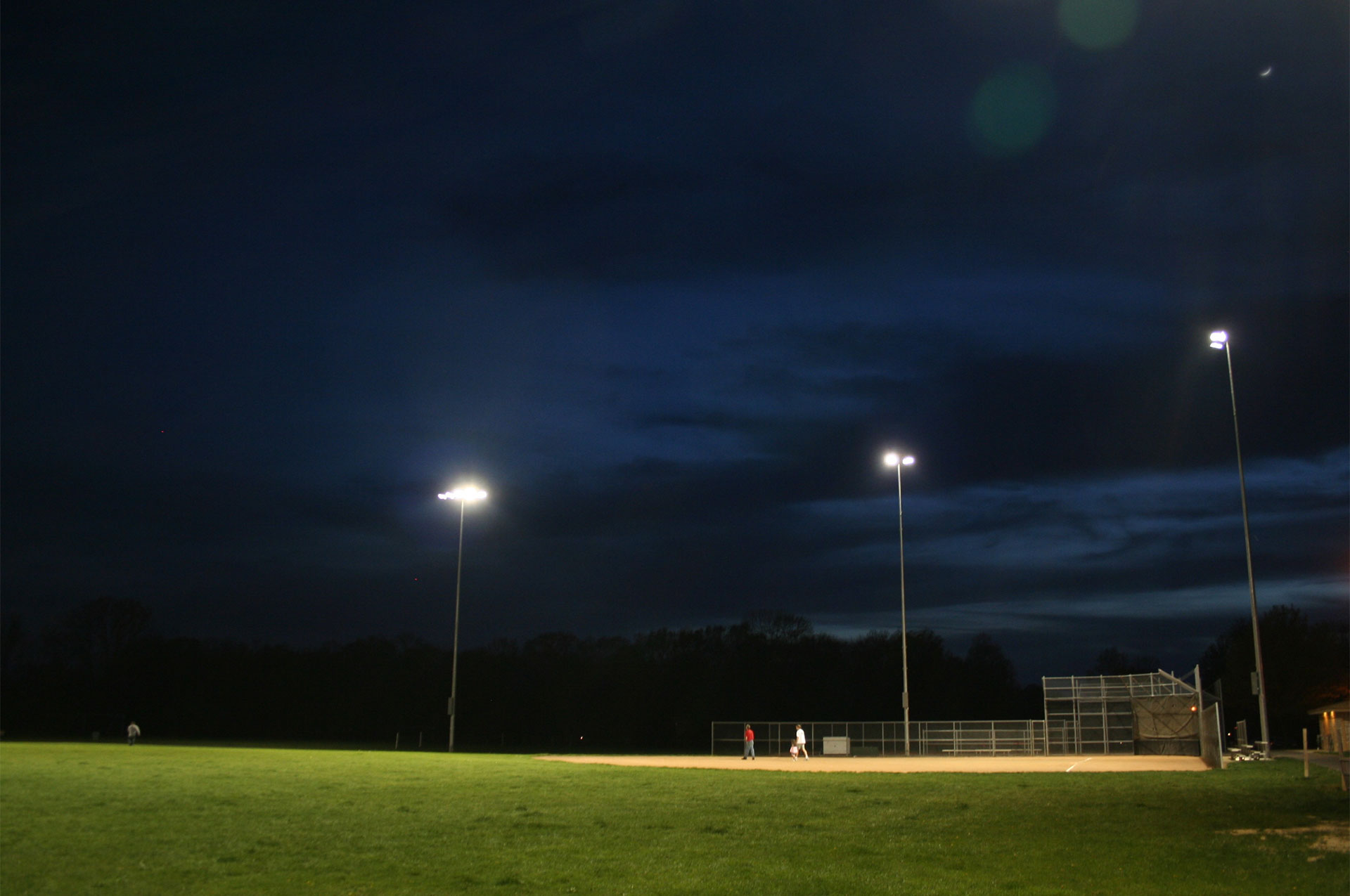 Thompson Park Fields At Night