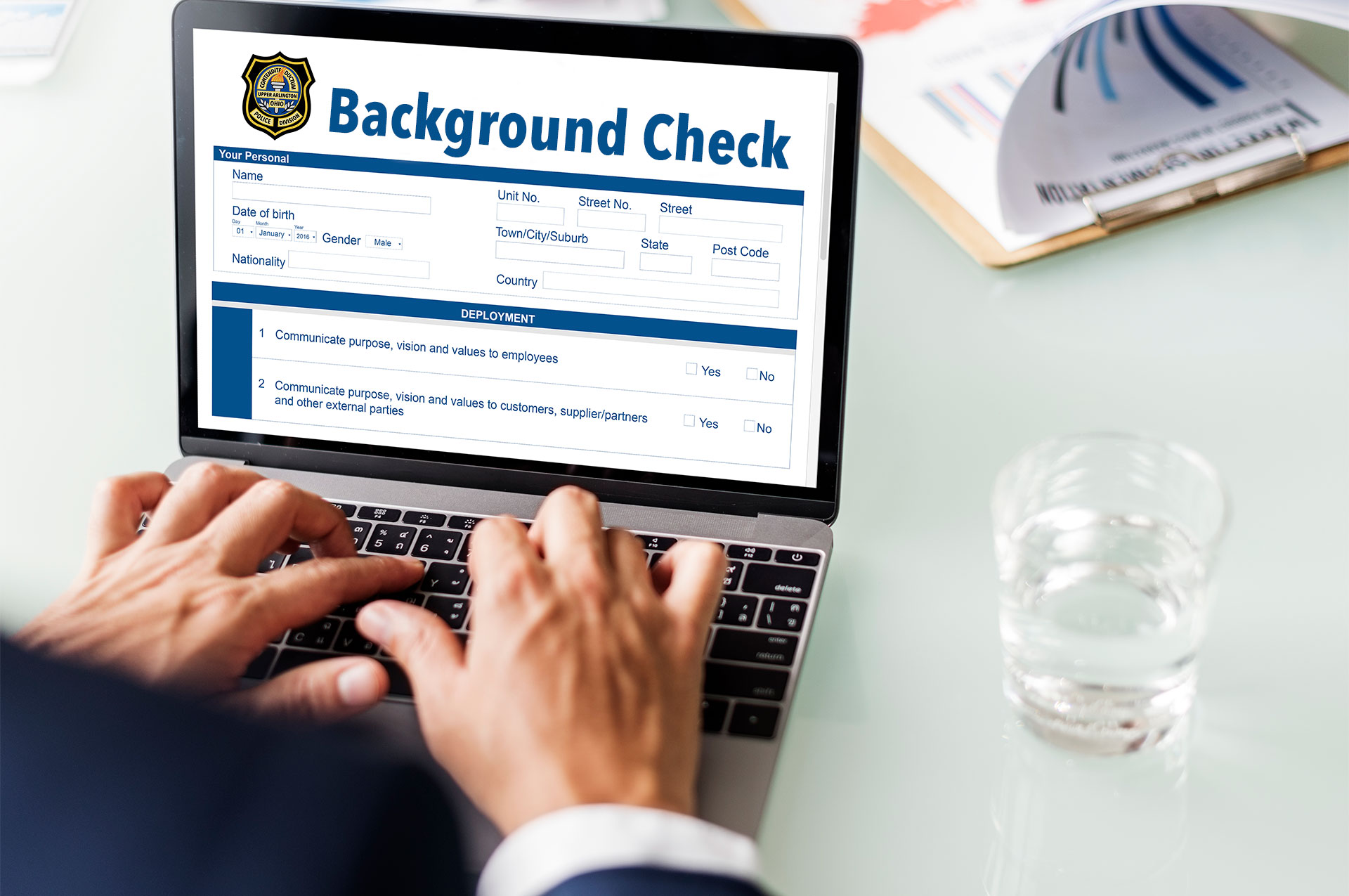 Police Division Offers Background Checks