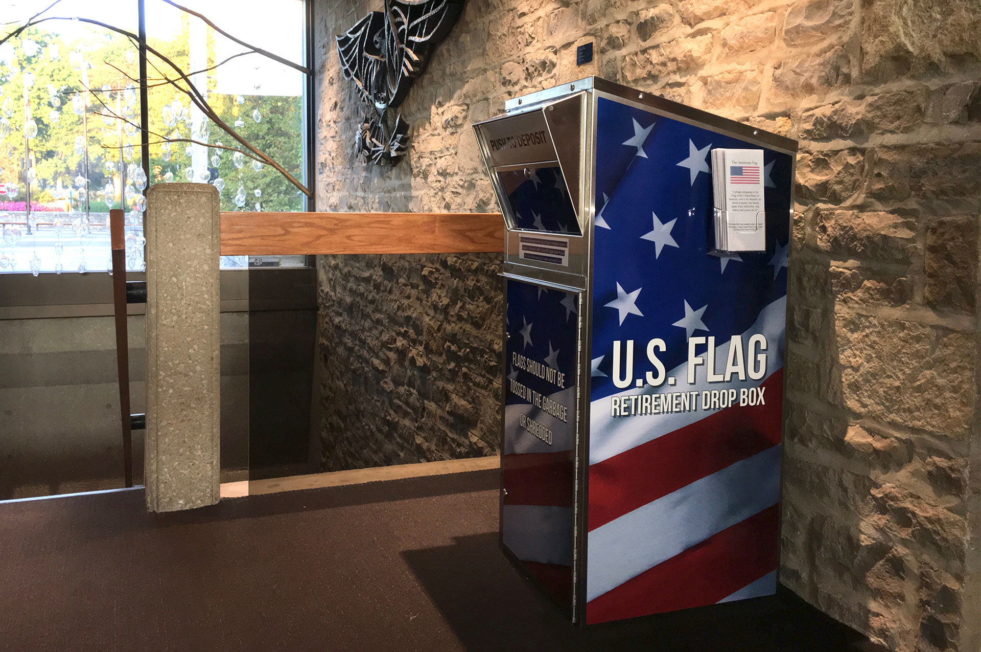 U.S. Flag Collection Box Available At Municipal Services Center
