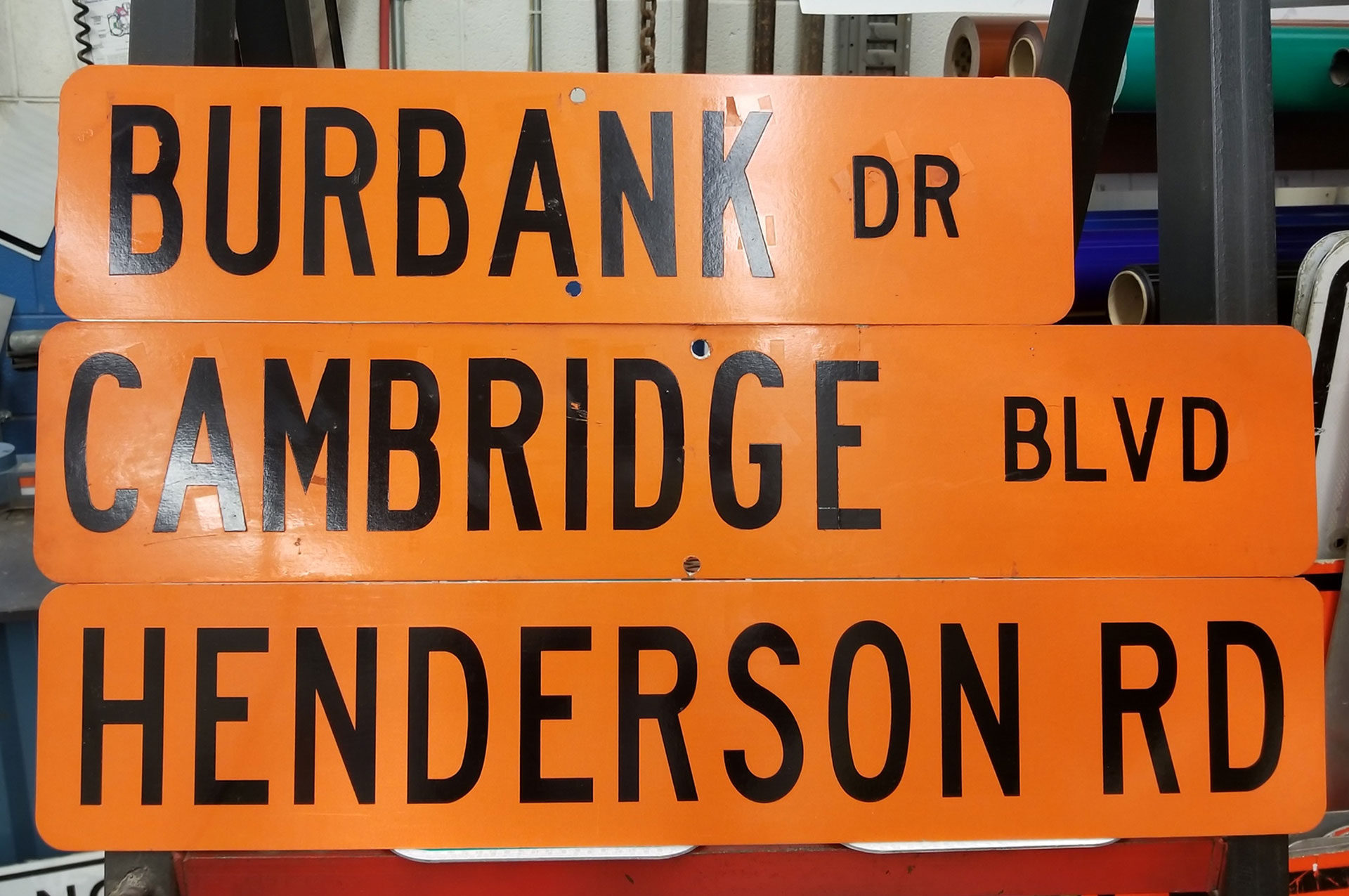 Construction Street Signs