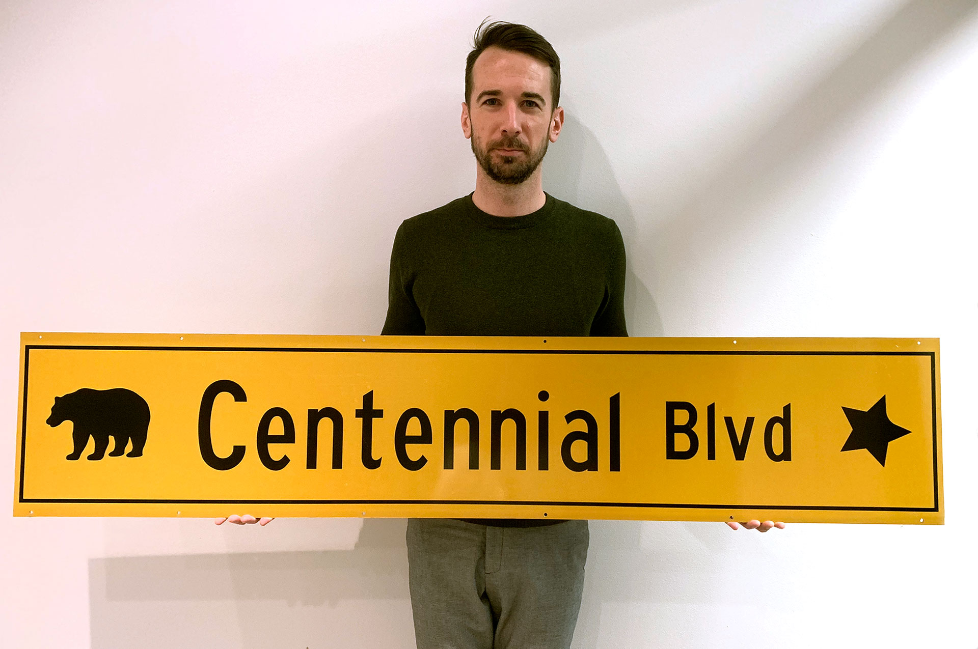 Centennial Blvd Street Sign